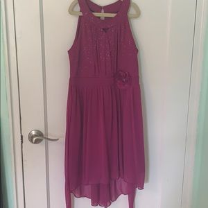 Purple/Pink Sparkling dress with flower